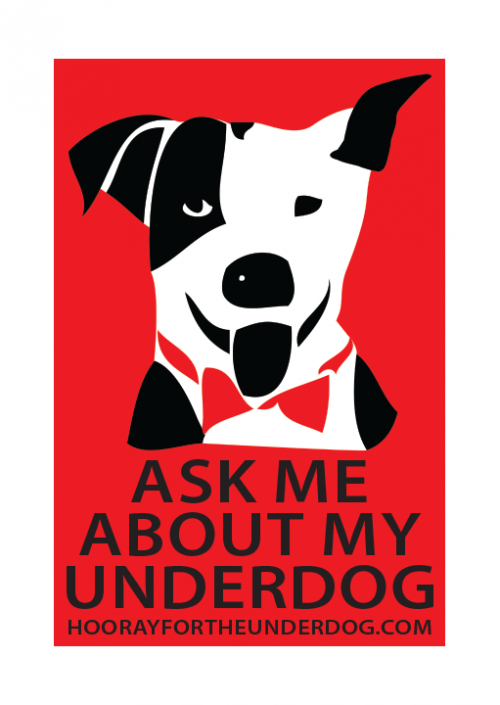 Ask me about my underdog sticker